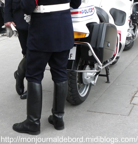 Bottes motard Police Nationale 01