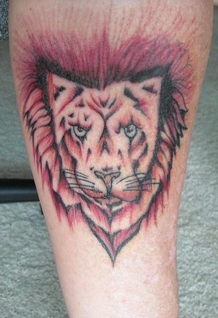 Lion Tattoo - On inner left arm