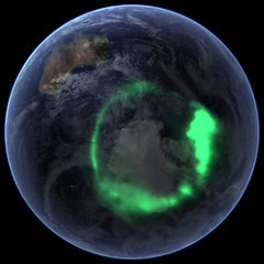 NASA's IMAGE Spacecraft View of Aurora Australis from Space