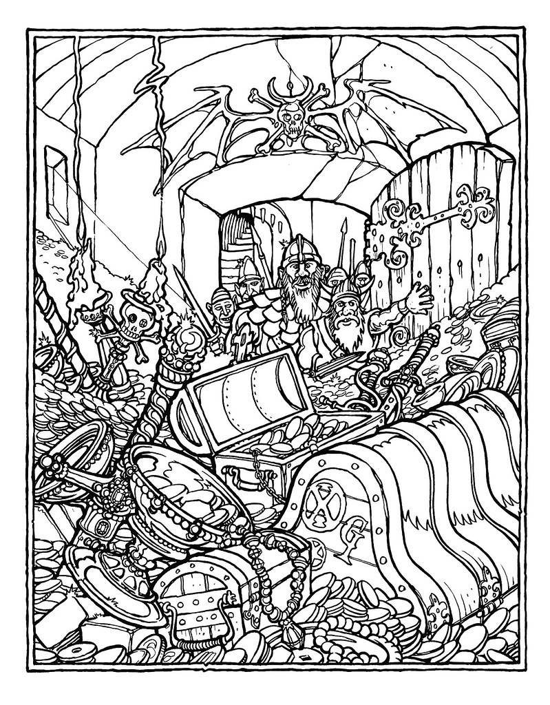 Monster brains the official advanced dungeons and dragons for Dragon coloring pages pdf