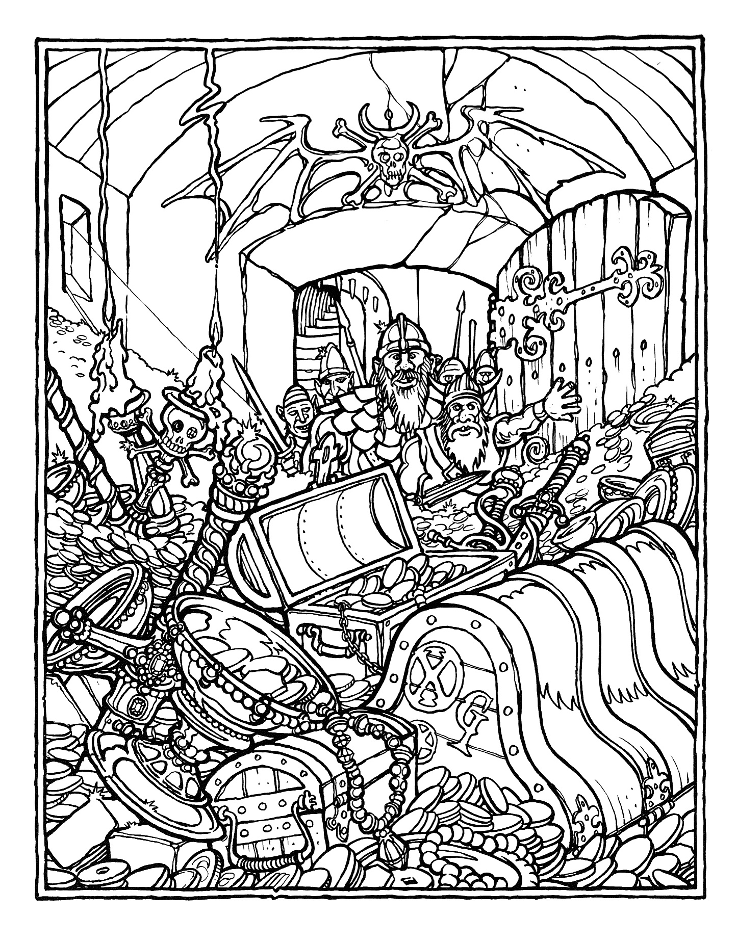 Dragon Coloring Pages For Adults Printable : MONSTER BRAINS: The Official Advanced Dungeons and Dragons Coloring Book Illustrated by Greg ...