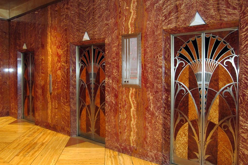 Nyc Midtown Chrysler Building Elevator Hall The