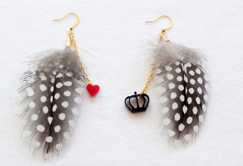 Queens Of Sounds Jewellery -  QOS Feather Dots pierce