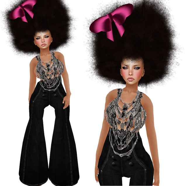 fashion slaves in second life afro chic. Black Bedroom Furniture Sets. Home Design Ideas