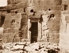 Kardâcy - sanctuaire, niches et inscriptions taillées dans les carrières, 1851-2, by Félix Teynard