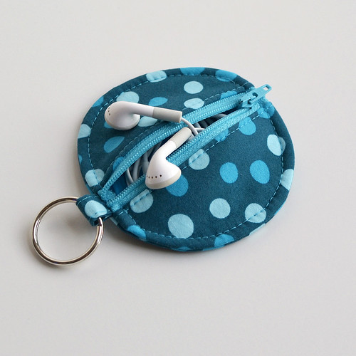 Circle Zip Earbud Pouch by yorkiemischief