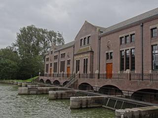 Image of Ir. D.F. Wouda-gemaal. nederland friesland lemmer lemsterland