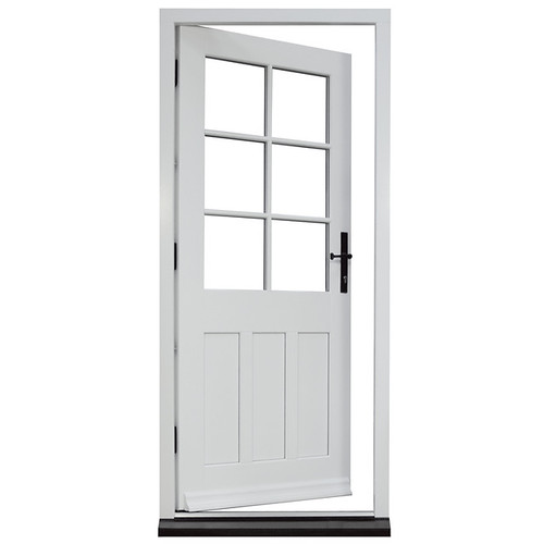 Timber front doors george barnsdale for Front door with opening window