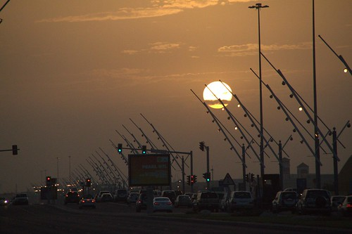 sunset doha qatar waab