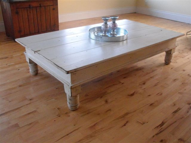 White Antique Stained Coffee Table 2 Flickr Photo Sharing