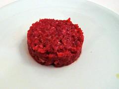 Steak Tartare de ternera roja de lidia - Restaurante Goizeko Kabi'ar - Madrid