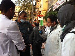 Medics from across the city have volunteered to assist the wounded in Tahrir