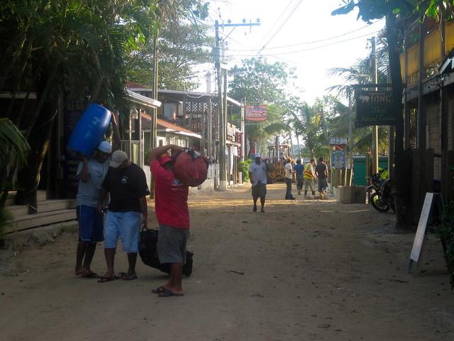 west end town - daily life - roatan honduras