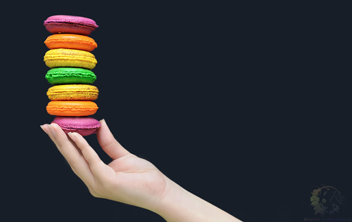 Over the rainbow macarons