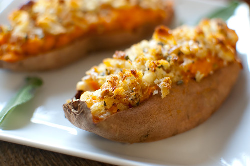 Image result for twice baked sweet potatoes with brown butter""