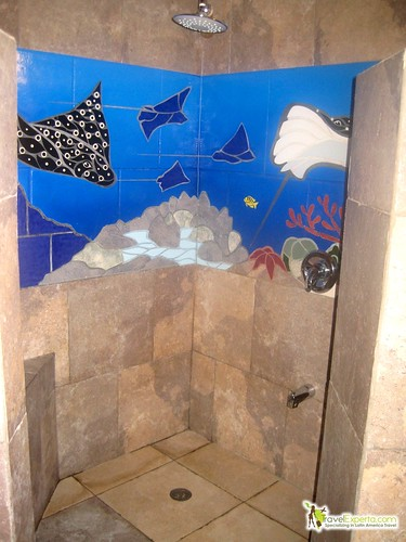 manta ray bathroom tranquil seas sandy bay roatan