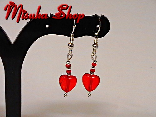Pendientes Heart Red