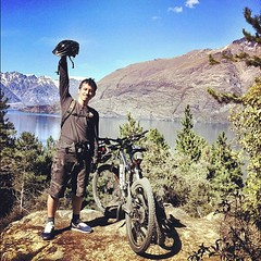 Victory Pose!  #mtb #cycling #queenstown #7miletrail