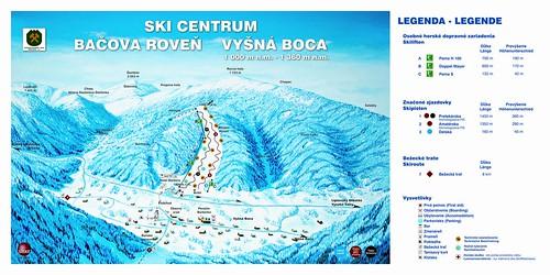Vyšná Boca - mapa sjezdovek