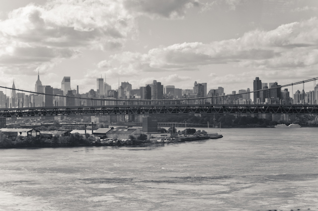 New York City, view from the train