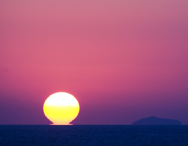 Sunset near Rhodes