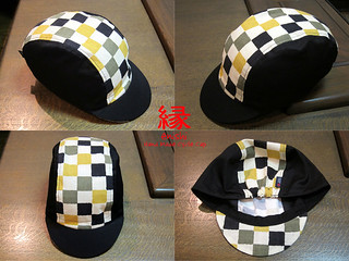 ENISHI Hand Made Cycle Cap  市松小紋 ICHIMATSU-KOMON