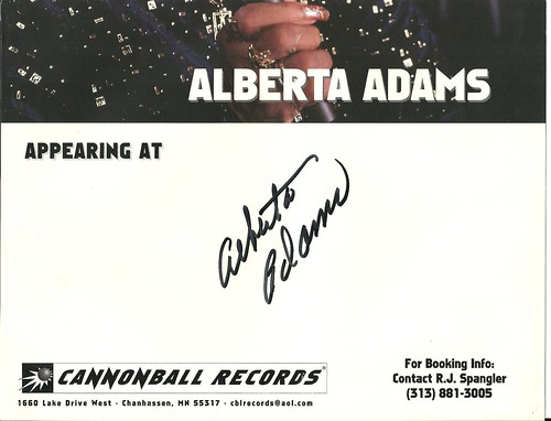 11-19-99 Alberta Adams Autographed Venue Poster (Bottom)
