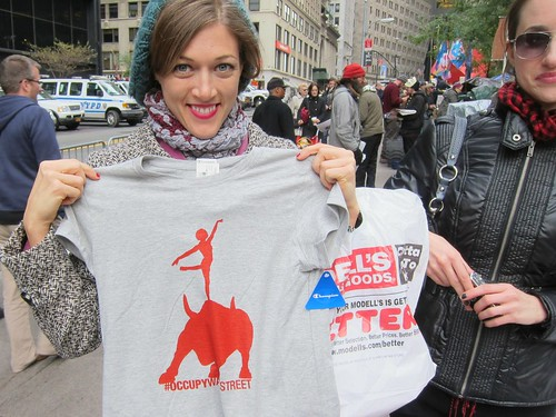 Occupy Wall Street: Day 45, Zuccotti Park, Halloween, New shirt
