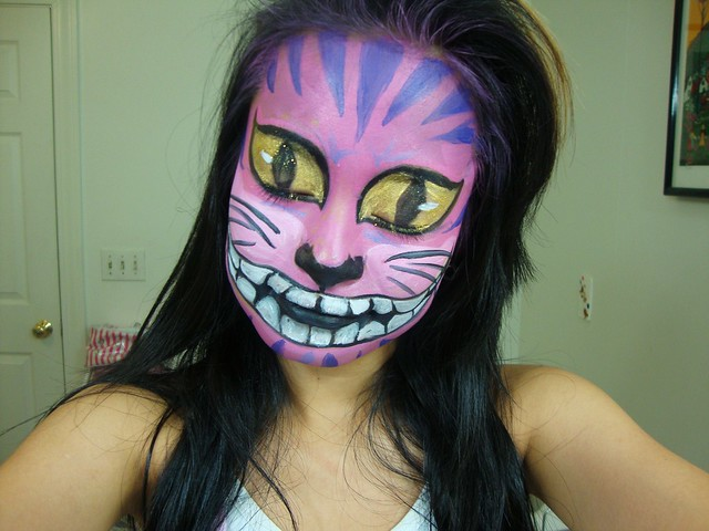 Cheshire Cat Face Paint http://www.flickr.com/photos/artistic_asian/6307462488/
