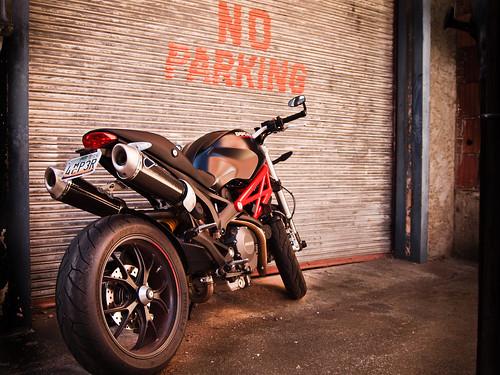 signs bike noparking © rules alleyway motorcycle ducati sigma1850mmf28 garyburke olympuse620