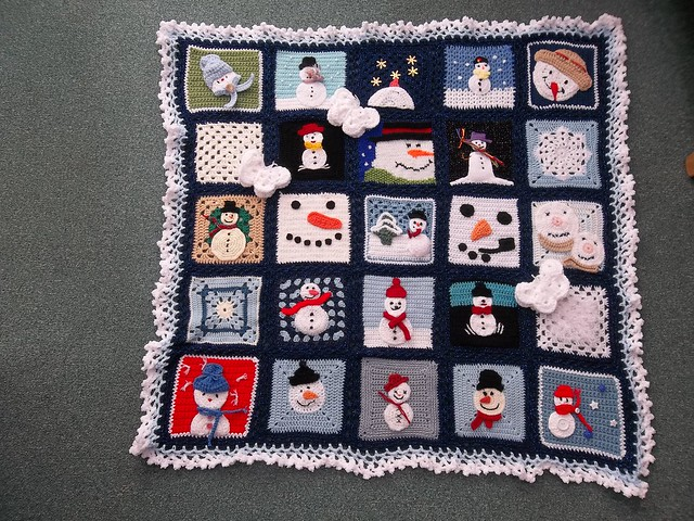 `Please add note' if you see your Square Ladies! Thank you very much mandas' challenges and to everyone who has contributed Squares for this 'Snowman Challenge'