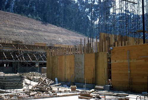College of the Holy Names chapel under construction, July 1957
