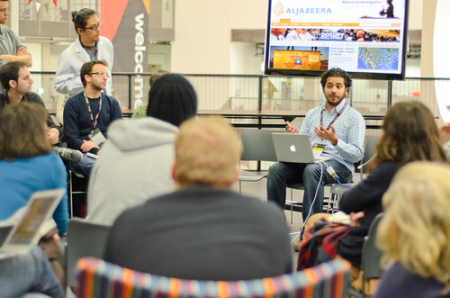 A fireside chat at Mozfest