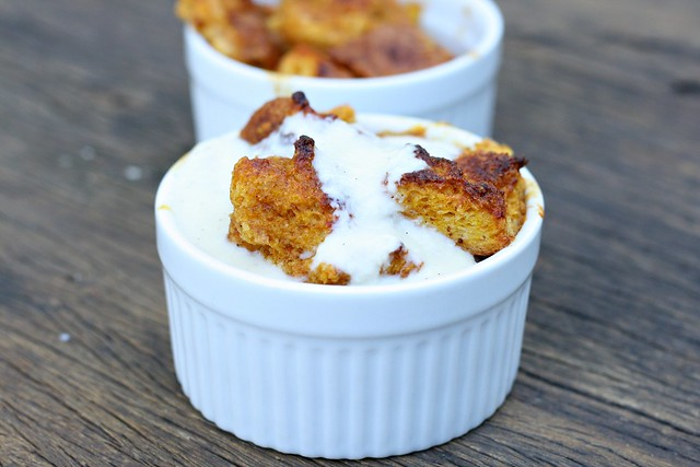 Pumpkin Bread Pudding with Bourbon Vanilla Sauce | Flickr - Photo ...