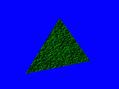 Gambar 34.7 Screensho demo pixel shader dengan menyaring komponen wrana merah dan biru