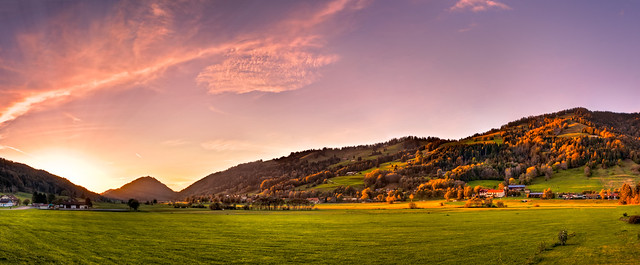Sunset in Thalkirchdorf