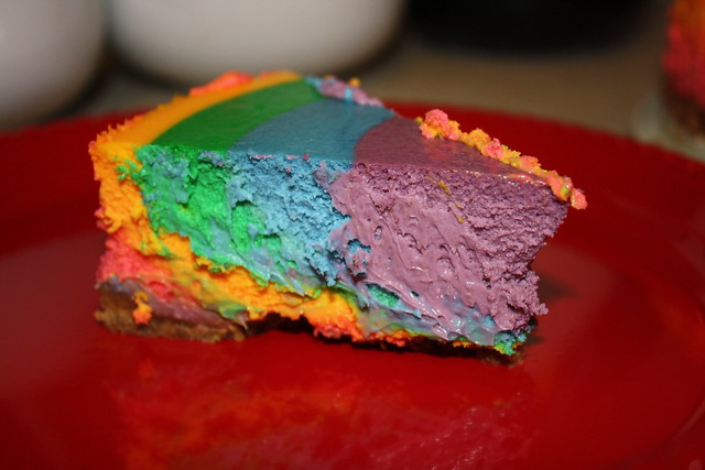Rainbow cheesecake | Flickr - Photo Sharing!
