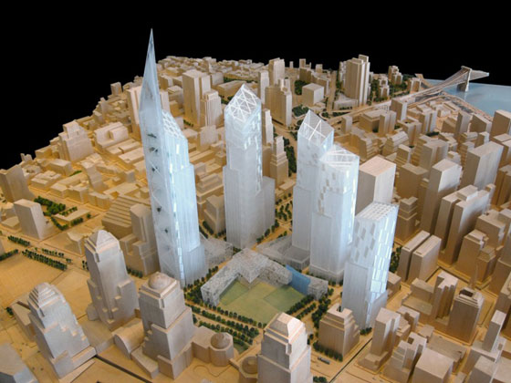 Ground Zero Master Plan by Studio Daniel Libeskind. Photo: SDL