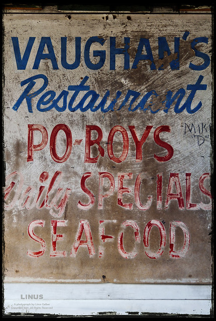 Vaughan's, on Dauphine Street in the Bywater, in New Orleans. Just like on TV.