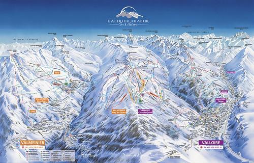 Valmeinier Valloire - mapa sjezdovek