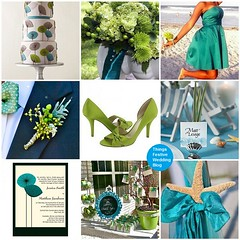 Teal & Apple Green wedding theme