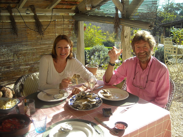 Debs and Keith enjoying lunch
