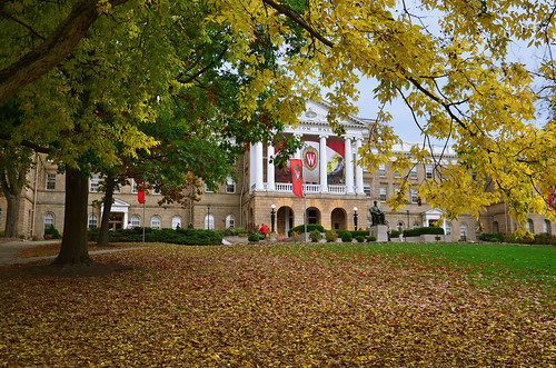 Bascom Hall on the UW Madison campus in Madison, WI
