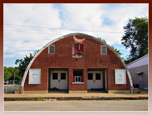 brick clouds kansas movies smalltown quonset movietheaters bluemound homemadesigns