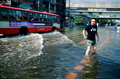 無料写真素材|社会・環境|災害|洪水|風景タイ