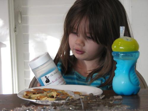 pancakes with blue sugar sprinkles