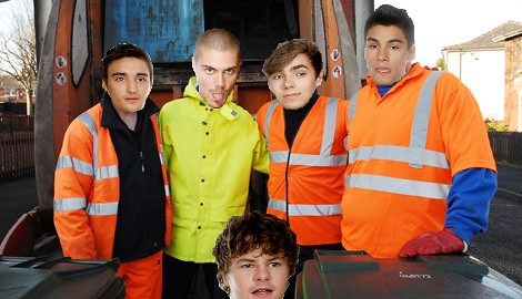 the wanted bin men