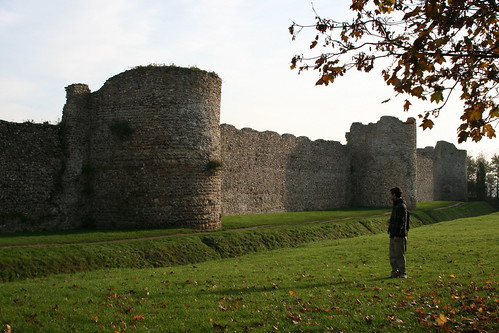 Portchester's wall castle and kuki