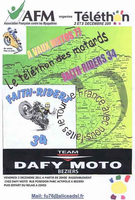 Téléthon des motards Béziers 2011