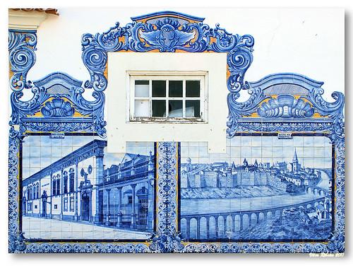 Painel azulejos na Estação de Aveiro by VRfoto